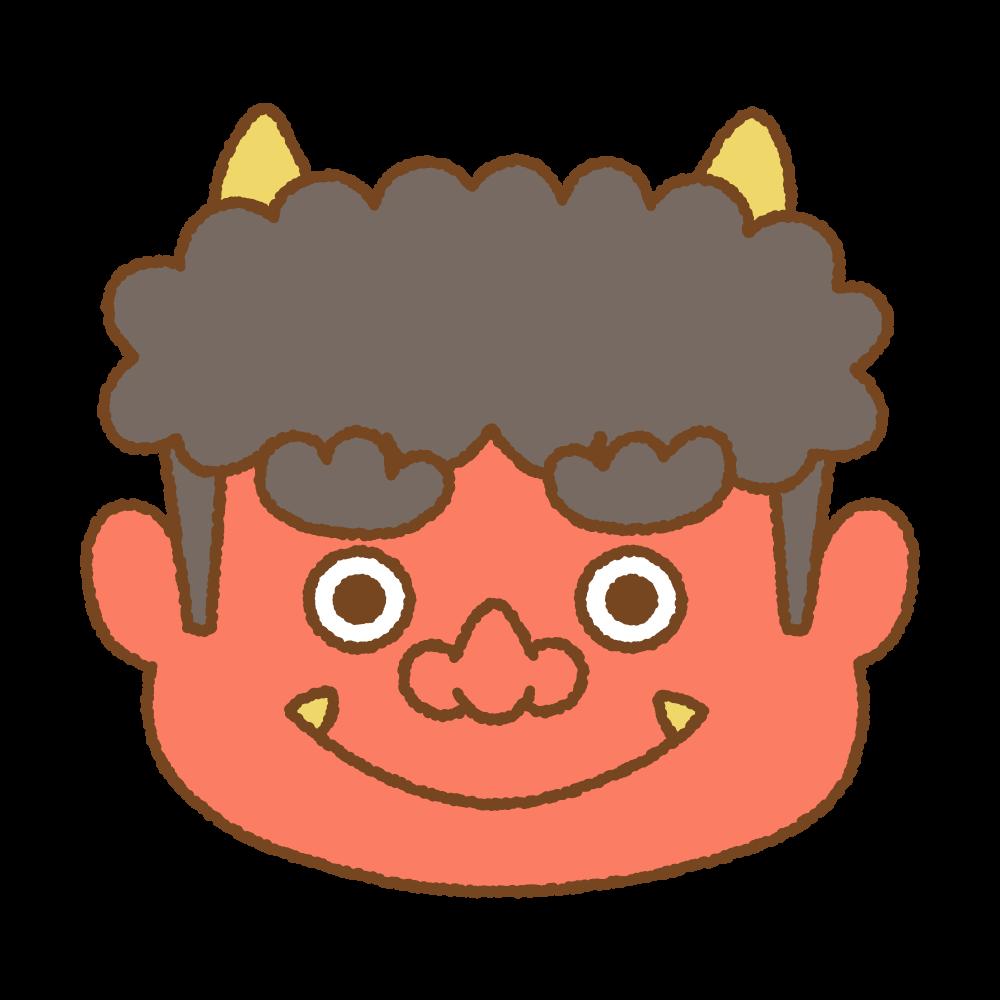 赤オニのフリーイラスト Clip art of akaoni (Japanese red demon)