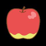 リンゴのフリーイラスト Clip art of apple