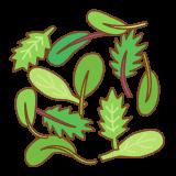 ベビーリーフのフリーイラスト Clip art of baby leaf