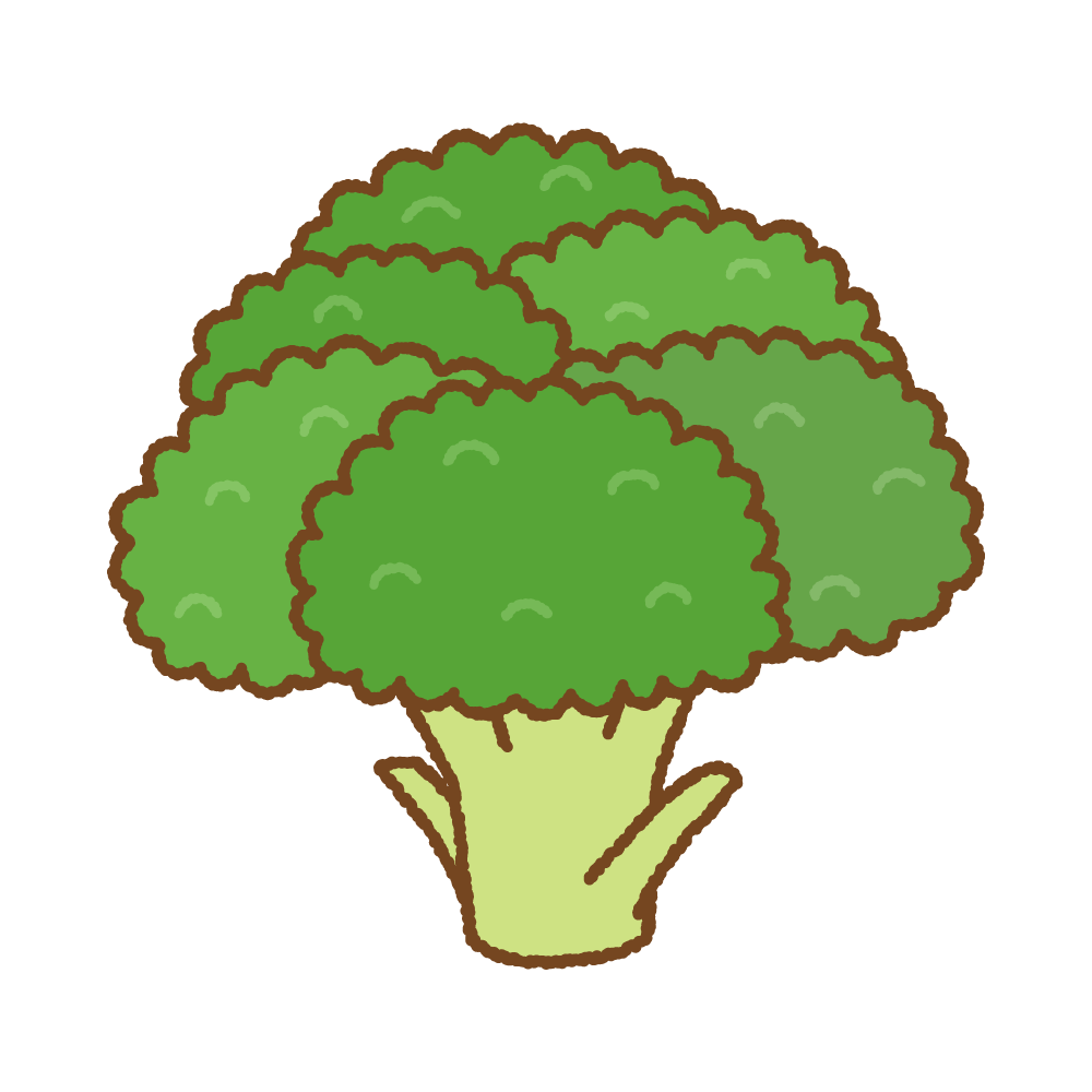 ブロッコリーのイラスト Clip art of broccoli