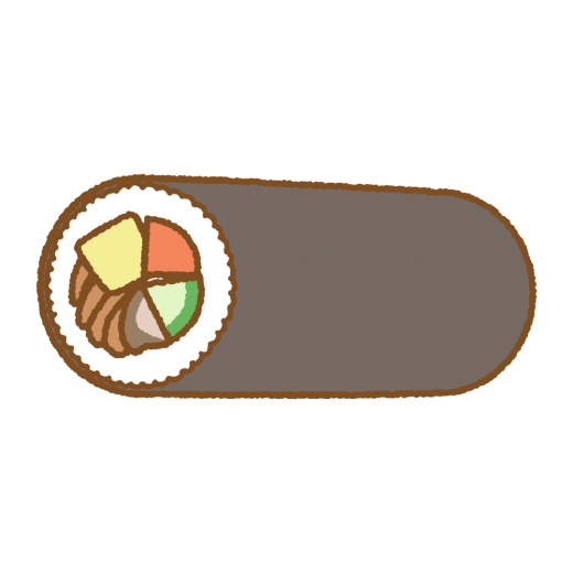 太巻きのフリーイラスト Clip art of futomaki