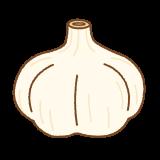 ニンニクのフリーイラスト Clip art of garlic