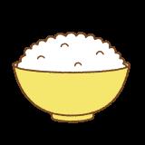 ごはんのフリーイラスト Clip art of rice