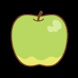 青リンゴのフリーイラスト Clip art of green-apple