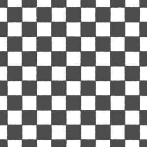 白黒の市松模様パターンのフリーイラスト Clip art of black-white ichimatsu-moyou pattern