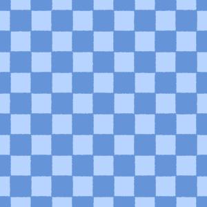 青の市松模様パターンのフリーイラスト Clip art of blue ichimatsu-moyou pattern