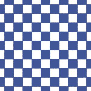 藍色と白の市松模様のパターンのフリーイラスト Clip art of ichimatsu-moyou pattern