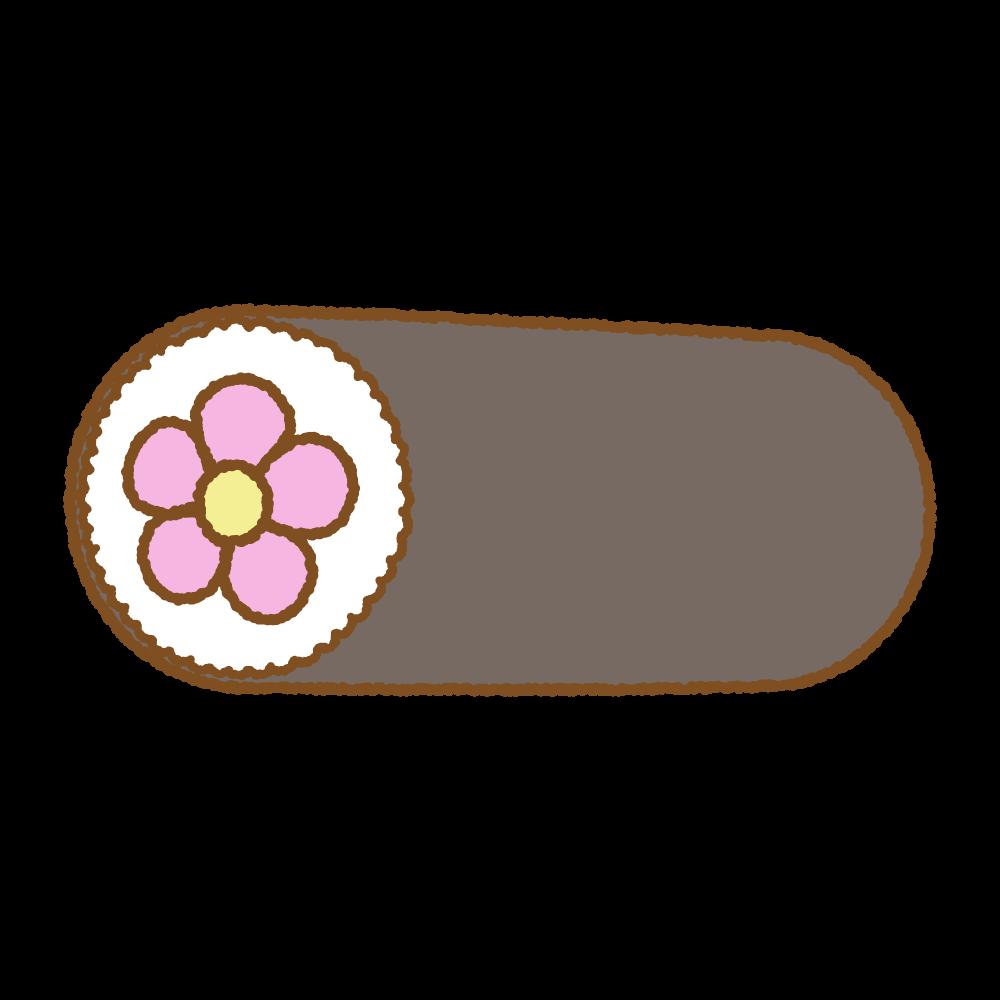 花の飾り太巻きのイラスト