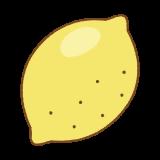 レモンのフリーイラスト Clip art of lemon