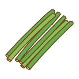 ニンニクの芽のフリーイラスト Clip art of garlic-shoot