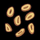 ニンニクチップスのフリーイラスト Clip art of garlic-chips