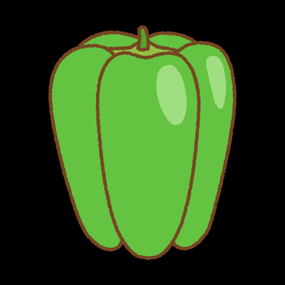 ピーマンのフリーイラスト Clip art of green pepper