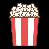 ポップコーンのフリーイラスト Clip art of popcorn