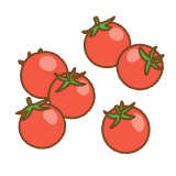 プチトマトのフリーイラスト Clip art of petit-tomato