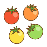 いろんな色のプチトマトのフリーイラスト clip art of color tomato