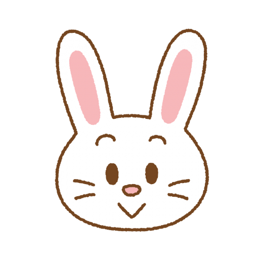 ウサギの顔のイラスト