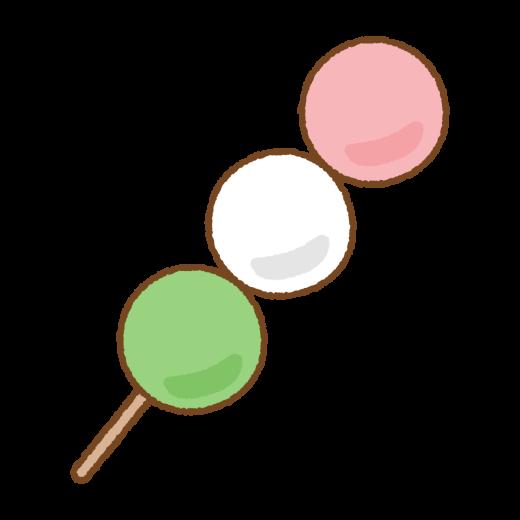 三色だんごのイラスト