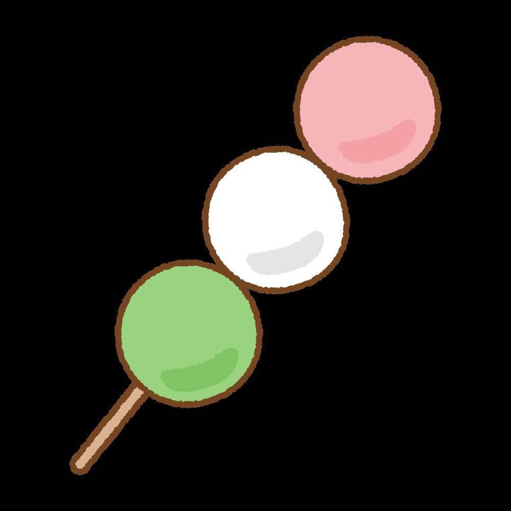 三色だんごのフリーイラスト Clip art of sanshoku-dango