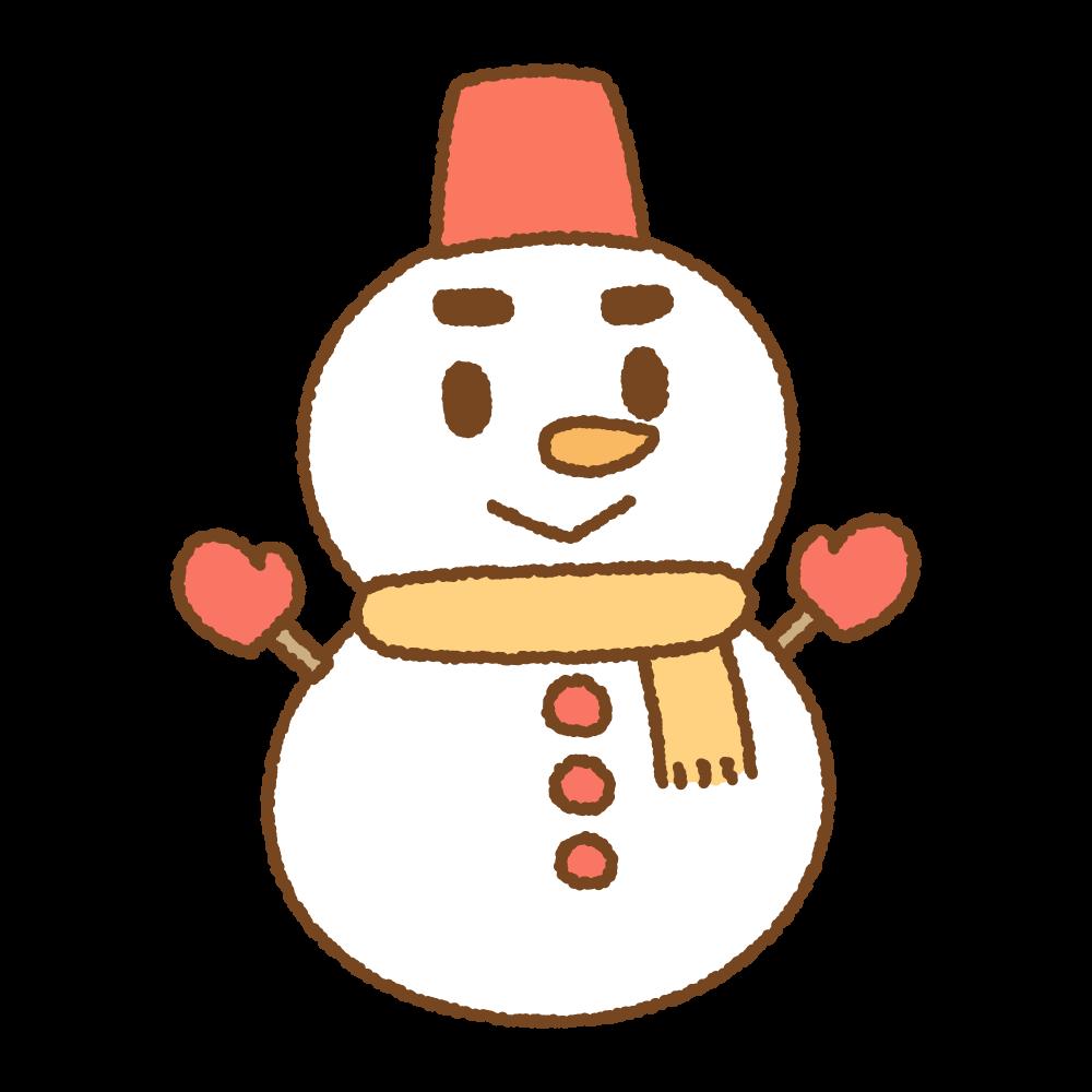 雪だるまのフリーイラスト Clip art of yukidaruma