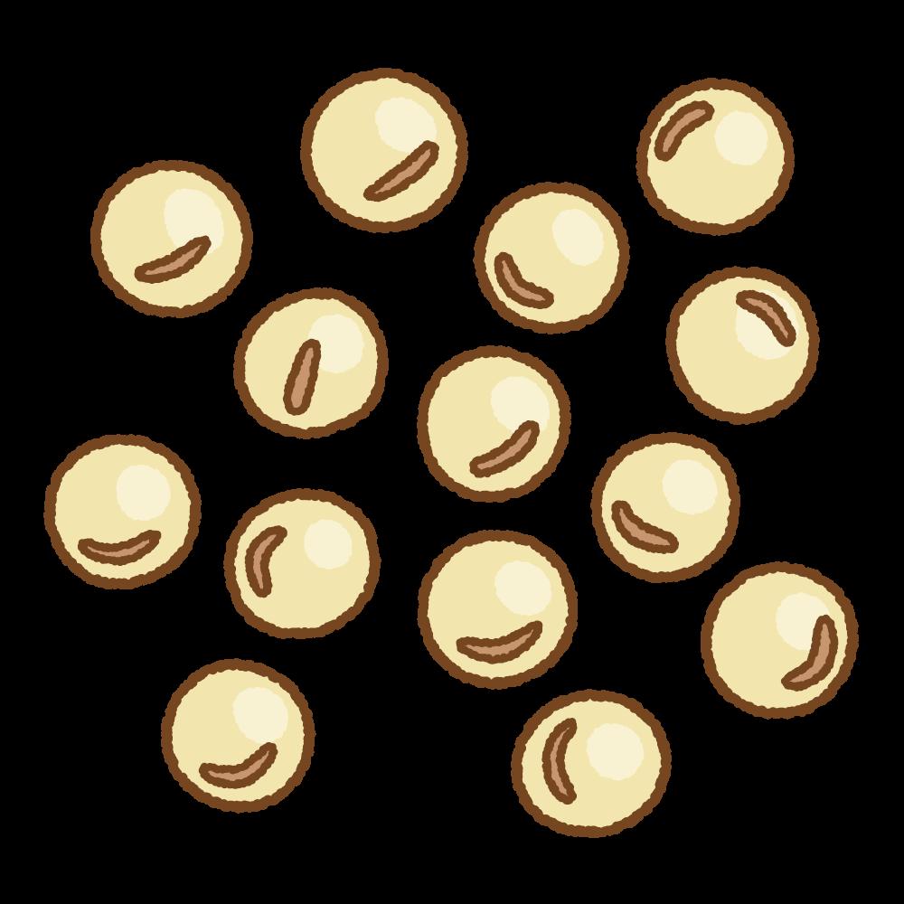 大豆のフリーイラスト Clip art of soy