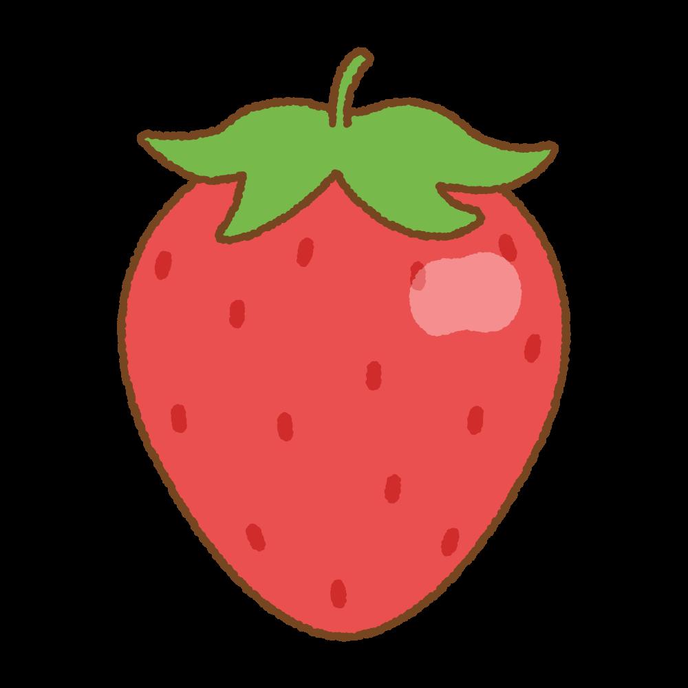 イチゴのフリーイラスト Clip art of strawberry