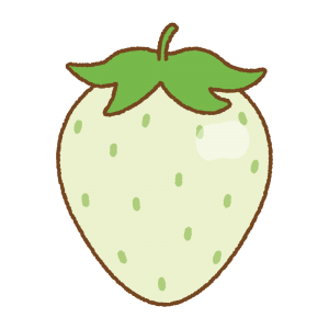 緑のイチゴのフリーイラスト Clip art of green strawberry