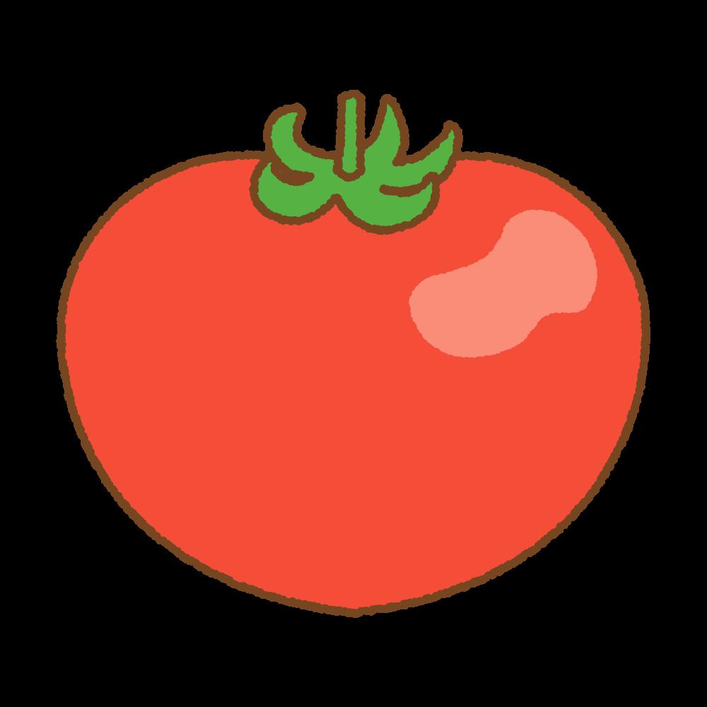 トマトのフリーイラスト Clip art of tomato