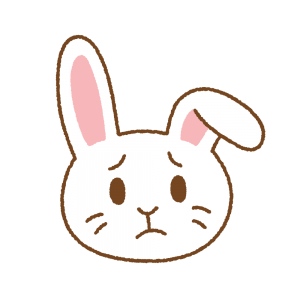 困ったウサギの顔のフリーイラスト Clip art of rabbit komaru