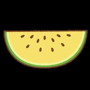 切ったスイカのフリーイラスト Clip art of cut watermelon