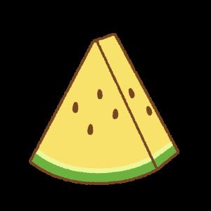 小さく切ったスイカのフリーイラスト Clip art of small cut watermelon