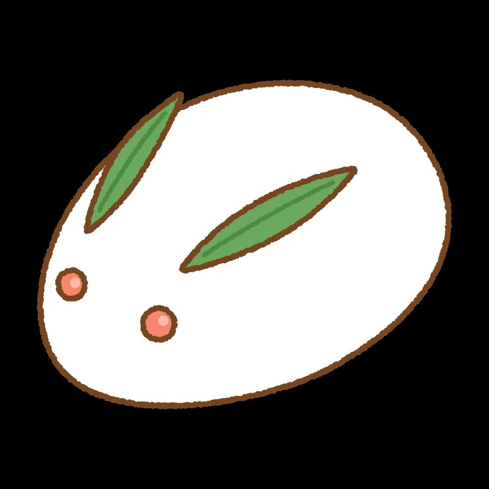 雪ウサギのフリーイラスト Clip art of yukiusagi