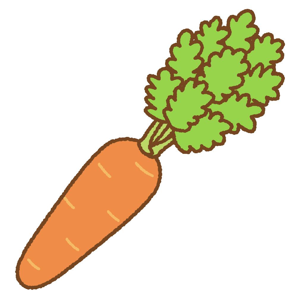 葉付きニンジンのフリーイラスト Clip art of carrot
