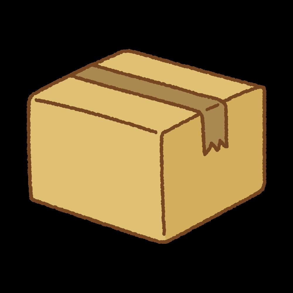 ダンボールのフリーイラスト Clip art of cardboard box