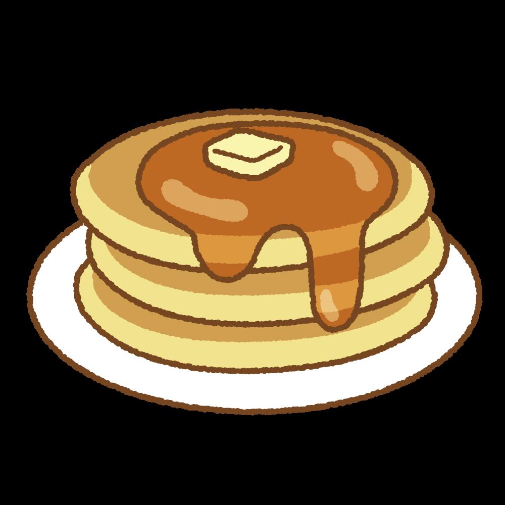 ホットケーキのフリーイラスト Clip art of hotcake, pancake