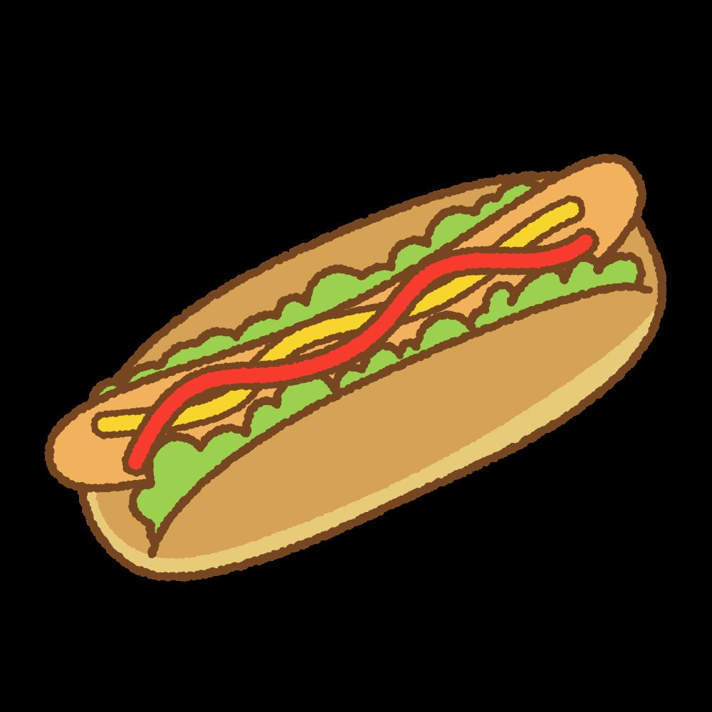 ホットドッグのフリーイラスト Clip art of hotdog