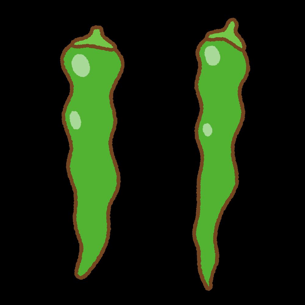 万願寺唐辛子のフリーイラスト Clip art of manganji-tougarashi