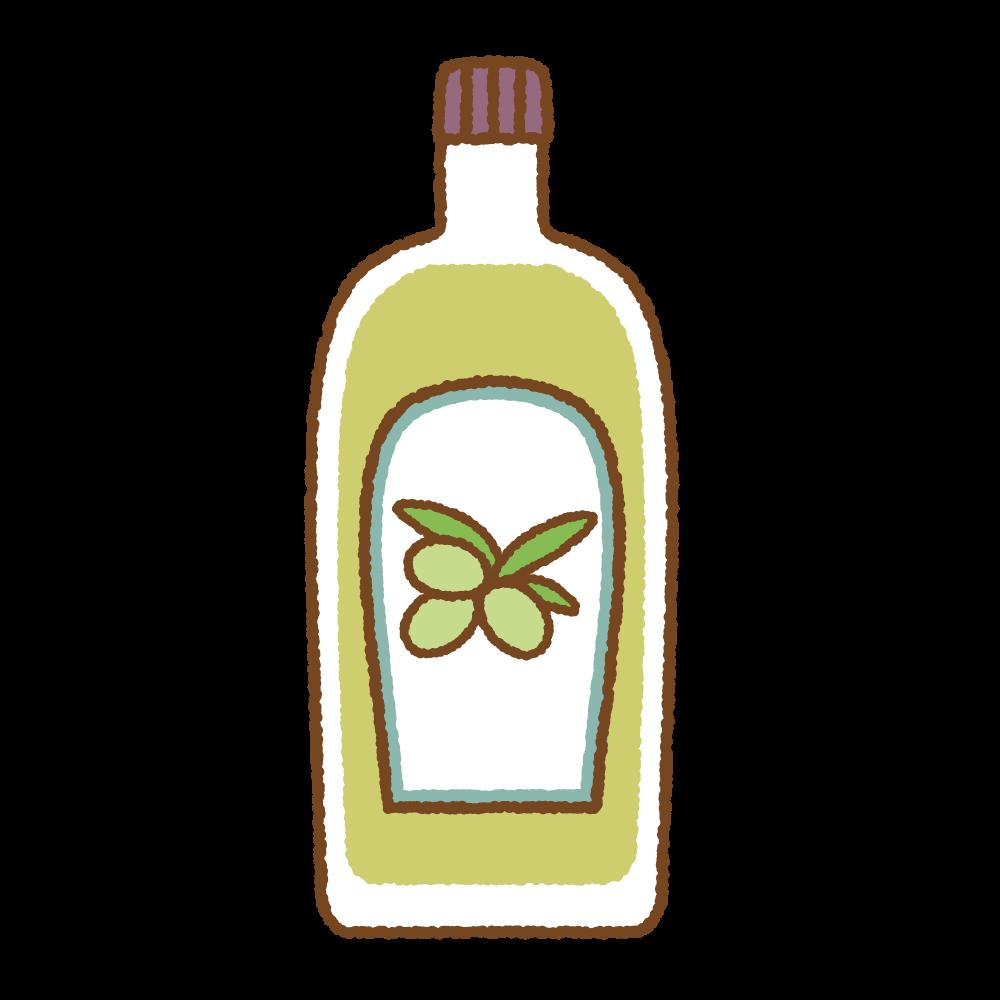 オリーブオイルのフリーイラスト Clip art of olive oil
