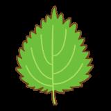 大葉のフリーイラスト Clip art of green shiso