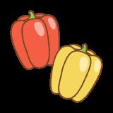 パプリカのフリーイラスト Clip art of paprika