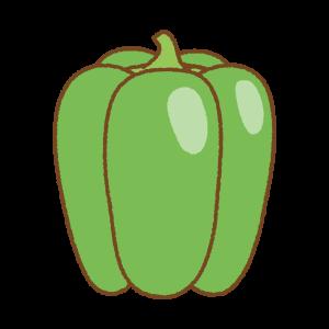 緑のパプリカのフリーイラスト Clip art of green paprika