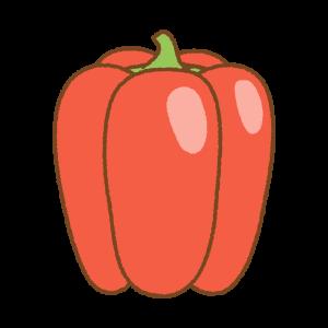 赤いパプリカのフリーイラスト Clip art of red paprika