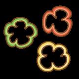 輪切りのパプリカのフリーイラスト Clip art of paprika slice