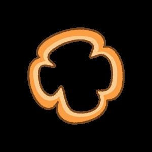オレンジのパプリカの輪切りのフリーイラスト Clip art of orange paprika slice