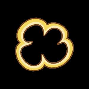 黄色のパプリカの輪切りのフリーイラスト Clip art of yellow paprika slice