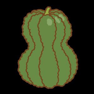 緑の鹿ケ谷カボチャのフリーイラスト Clip art of shishigatani-kabocha pumpkin