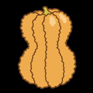 鹿ケ谷かぼちゃのフリーイラスト Clip art of shishigatani-kabocha pumpkin