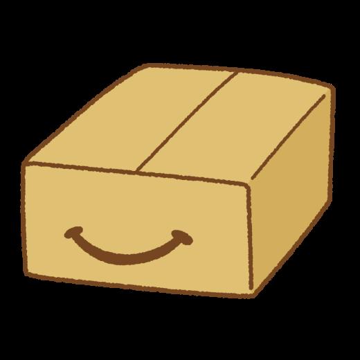スマイルダンボール箱のイラスト