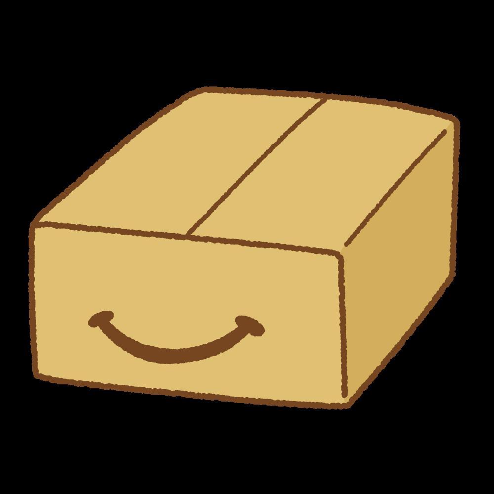 スマイル段ボール箱のフリーイラスト Clip art of smile-box