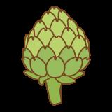 アーティチョークのフリーイラスト Clip art of artichoke