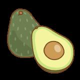 アボカドのフリーイラスト Clip art of avocado